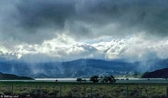 Rainstorm clearing over Lake Isabella, Febr. 1980 (000°)