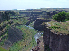 Looking Away ... from Palouse Falls