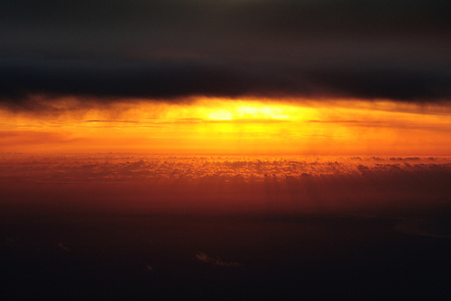 Sunset, as Viewed From QF004 to Singapore