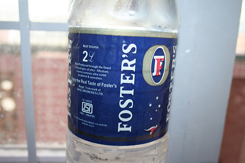 Ah, Foster's, Australia's Favourite Water!?