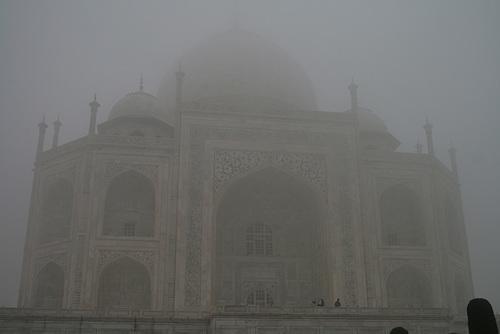Morning Taj, Emerging From The Mist