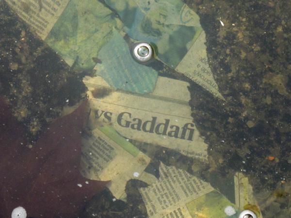 Gaddafi is sunk