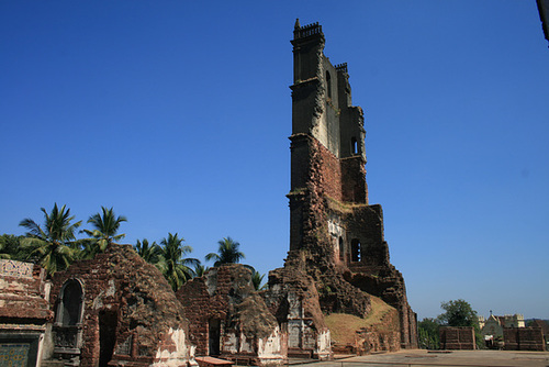 All That Remains Of One Cathedral In Old Goa