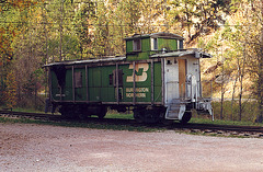 Abandoned caboose in Keystone, South Dakota