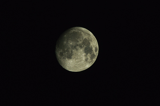 Post-Processed Moon, Three Days Before Full