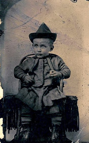 Munchkin Boy Tintype