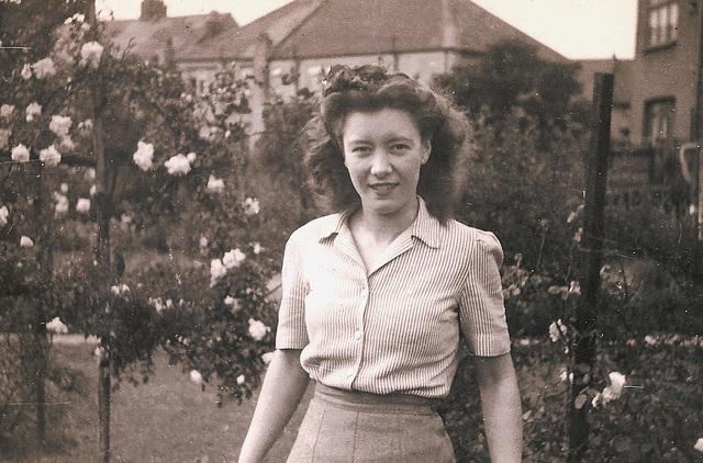 My Mother at Thornton Heath, 1945.