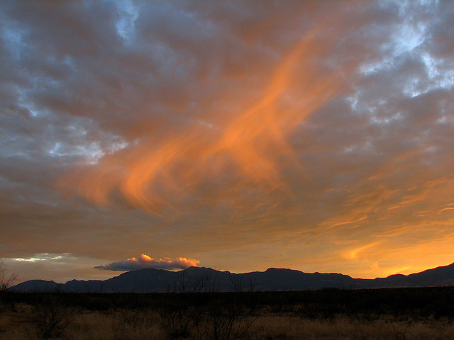 Virga over the Huachuca Mountains
