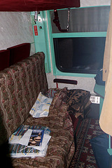 Train compartment for three persons for 24 hours