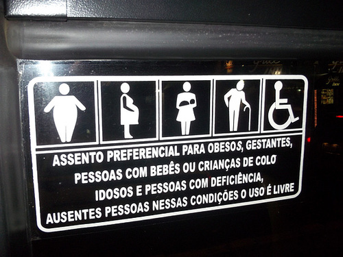 "Preferential Seating for ""Obesos""...."