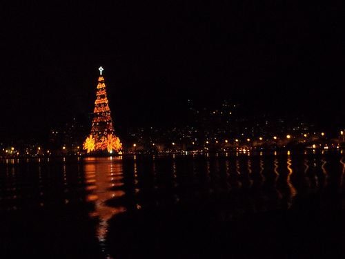Giant Floating Christmas Tree