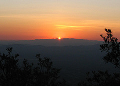 Sunrise over the Chiricahua Mountains