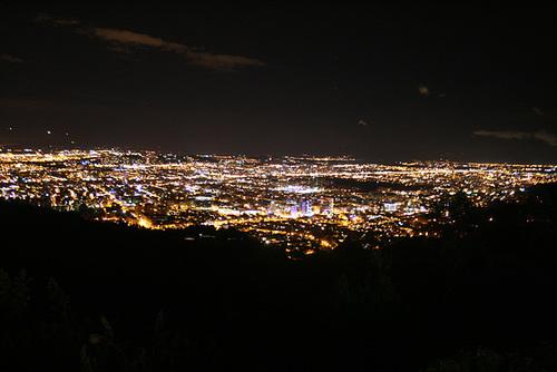 Night View Over Bogotá