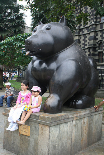 Kids with Botero