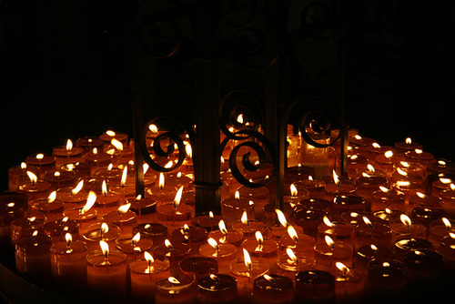 Candles, Church, Medellin, Colombia
