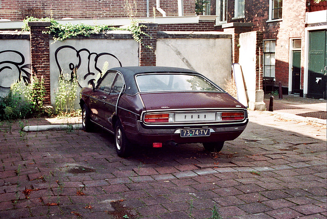 Old Ford Granada in suitable surroundings