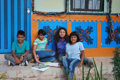 Guatapé Children Doing Homework