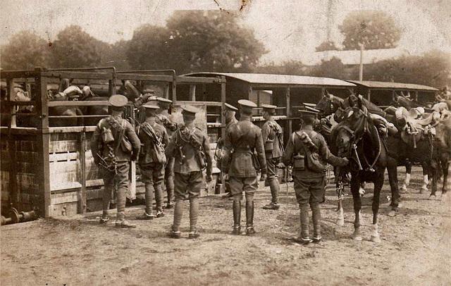 Postcard of Lancers, WW1