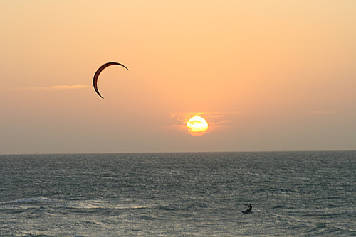 Kite-surfer at Sunset