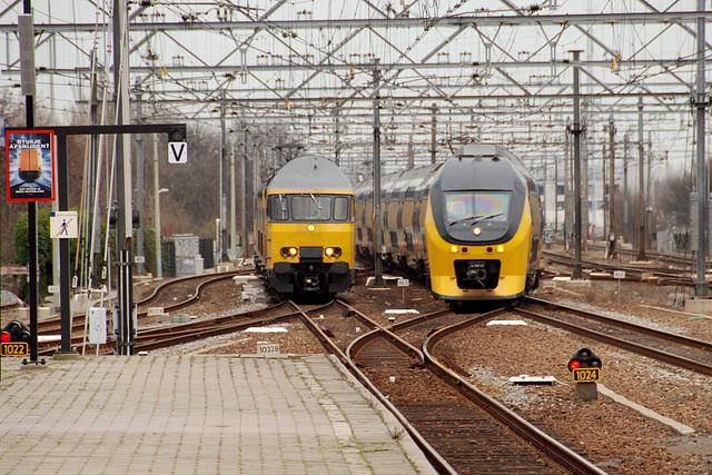 Arriving trains