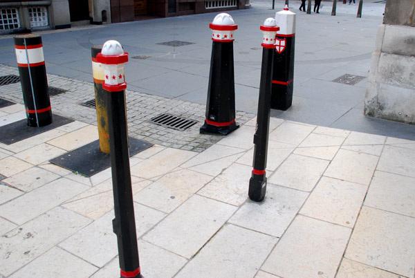 A standing of bollards