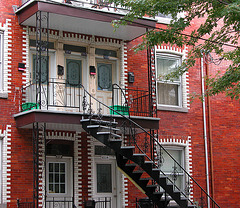Montreal images: Outside stairs are common in Montreal
