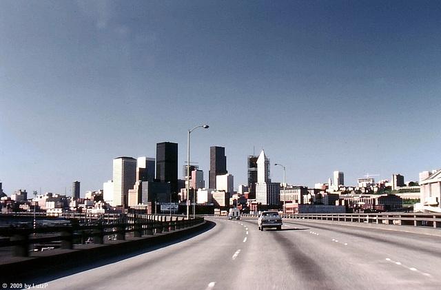 Seattle Skyline, June 1980 (000°)