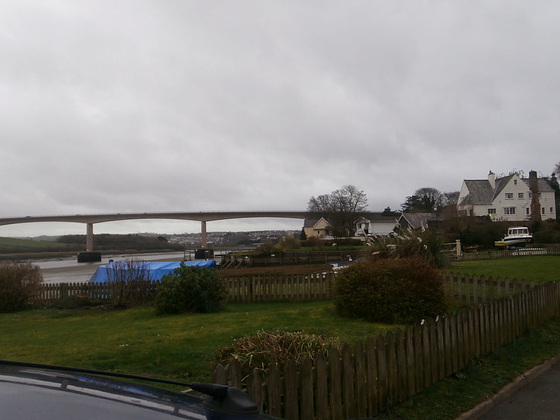 Views of the new bridge from Limers Lane