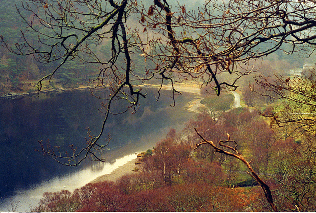 Old pics: Upper lake in Glendalough (Ireland)