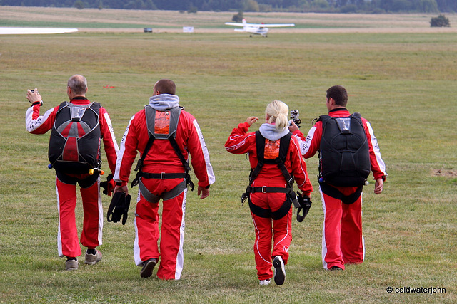 Setting off for a jump from 12,000 feet