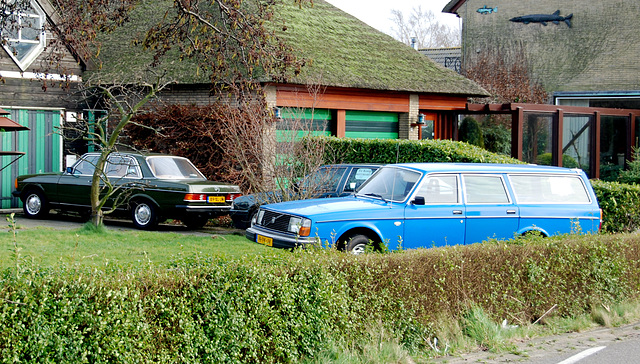 1979 Volvo 245 L and 1982 Mercedes-Benz 300 D