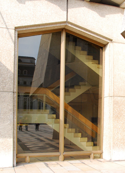 Stairs through the window