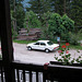Holiday end of day 4: View from Gasthof Emma in Toblach of my Mercedes