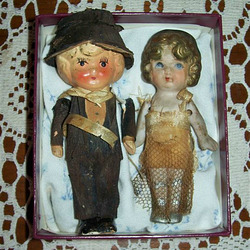 Wedding dolls from c. 1930
