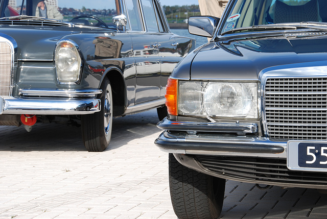 Autumn Mercedes meeting: S-class old and new