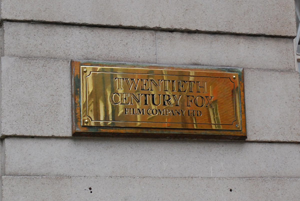 Twentieth Century Fox plaque