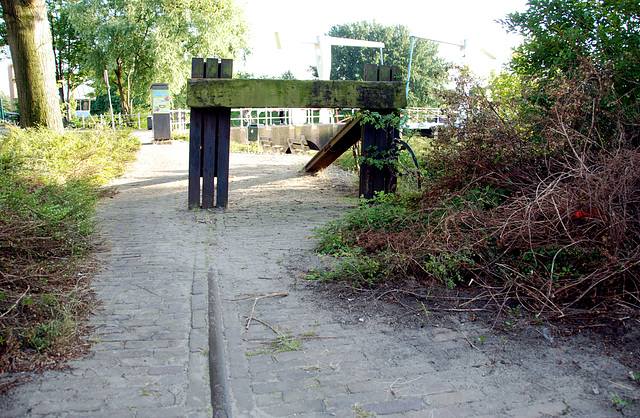 Old railway track in Leiden