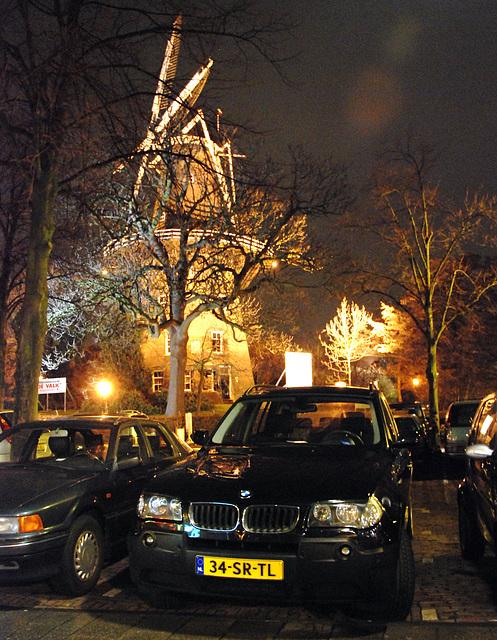 BMW X3 and windmill