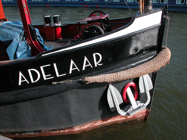 A trip with the steam tug Adelaar: Laying in the harbour of Amsterdam after the trip