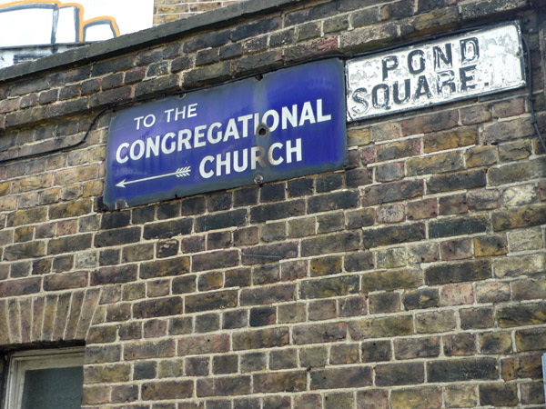 Pond Square - to the Congregational Church