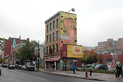 Lonely building on Rue Sainte Catherine (Montreal)