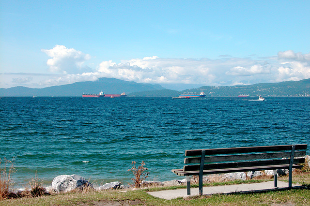 Canadian images: View over the English Bay in Vancouver