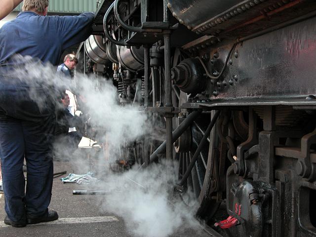 Steam Festival in Simpelveld (Limburg): the men of steam