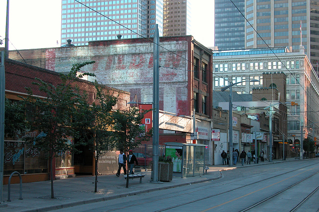 Canadian images: faded wall ad in Calgary