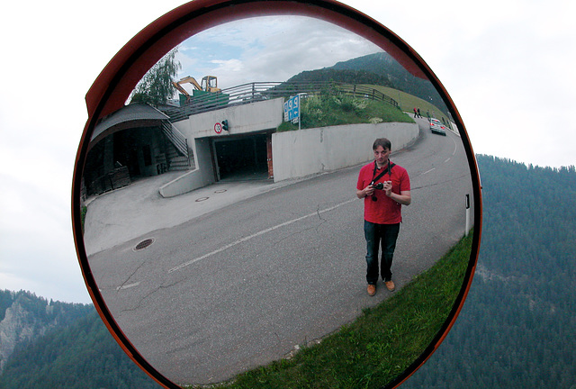 Holiday day 4: me in a convex mirror