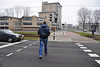 Crossing the street in Utrecht