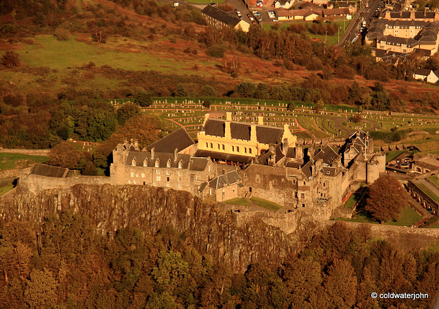 Stirling Castle from 1500 feet