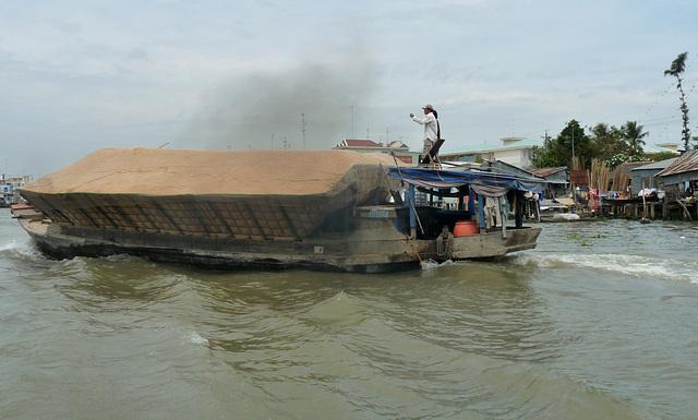 Transporting Rice Husks