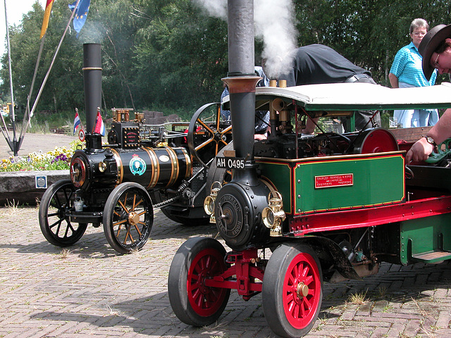 Steam festival in Simpelveld (Limburg): small steamers