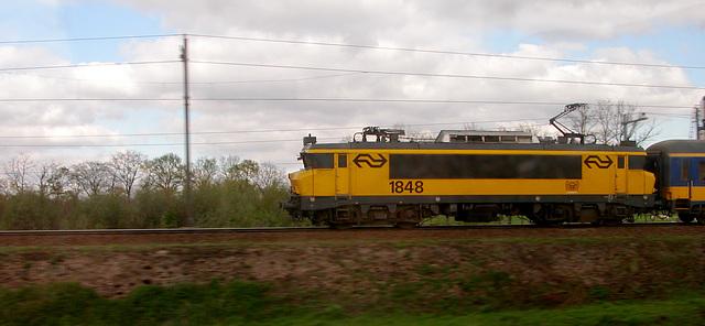 Engine 1848 pulling a train